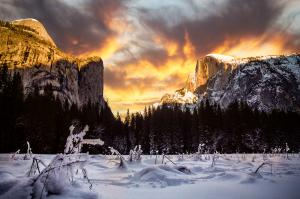 Yosemite Valley In Winter
